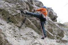 Klettern auf dem Habichtsstein