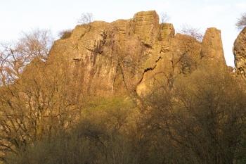 Klettern auf dem Scharfenstein