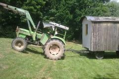 Abholung des Bauwagens